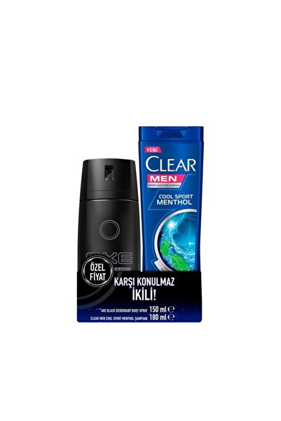 Axe Black 150 Ml Deodorant + Clear Cool Sport 180 Ml