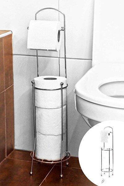 Ermek Wc Kağıtlık Paslanmaz Yedekli Ayaklı Tuvalet Kağıtlığı