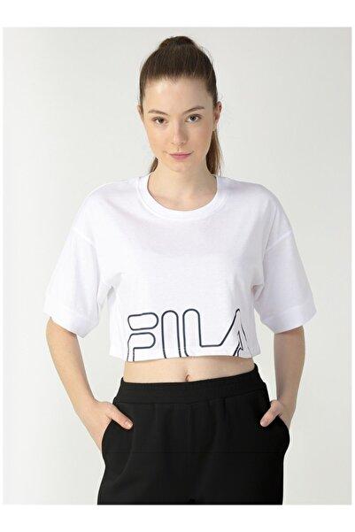 Fila Kadın Beyaz Baskılı Tişört