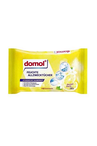 DOMOL Islak Temizlik Bezi Çok Amaçlı, Limon Kokulu 50 Adet