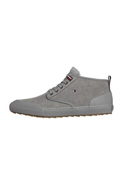 Tommy Hilfiger Erkek Gri Sneakers Core Corporate Winter Chukka FM0FM02377