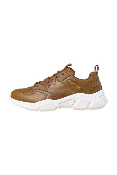 Tommy Hilfiger Erkek Kahverengi Sneakers Chunky Deri Runner FM0FM02474