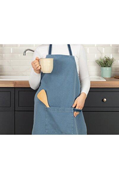Madame Coco Fiori Mutfak Önlüğü - Açık Mavi