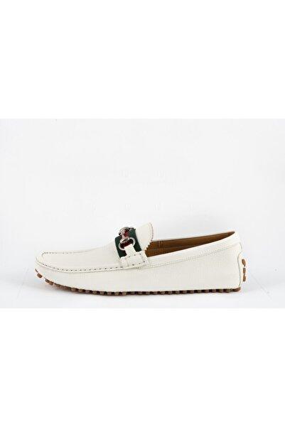 Gucci Erkek Beyaz Loafer