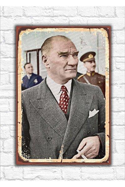 Dressy Home Atatürk Resmi Baskılı Ahşap Poster
