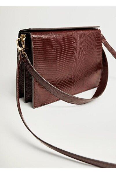 MANGO Woman Dokuma Kutu Çanta