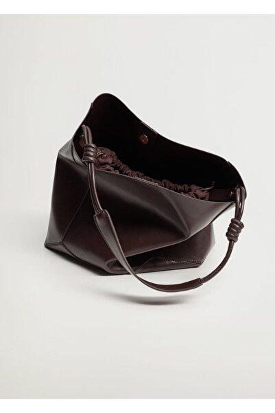 MANGO Woman Düğüm Saplı Shopper Çanta