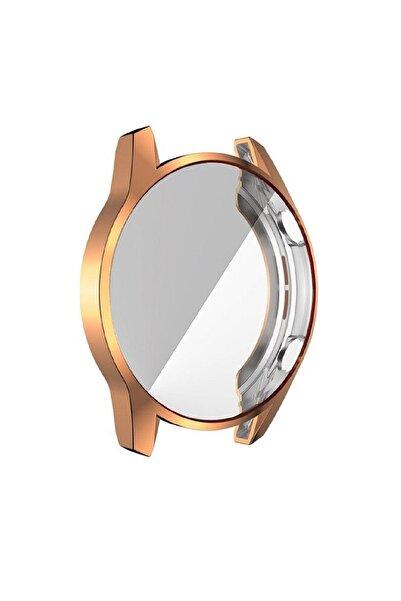 Huawei Gold Watch Gt 2 46mm 360 Tam Koruma Silikon Kılıf Koruyucu