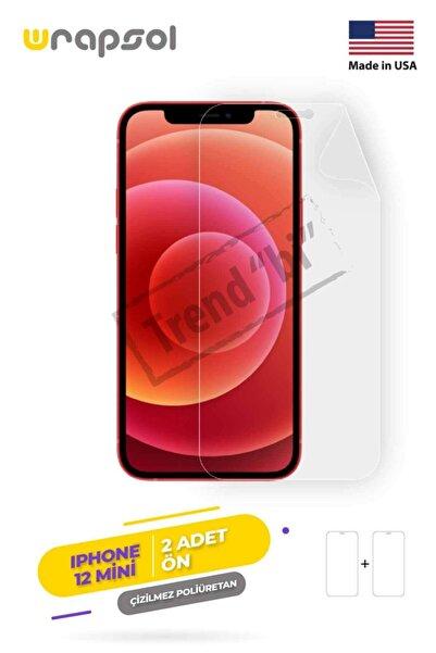 Wrapsol Apple Iphone 12 Mini Ekran Koruyucu-darbe Emici Poliüretan Film Amerika Üretimi