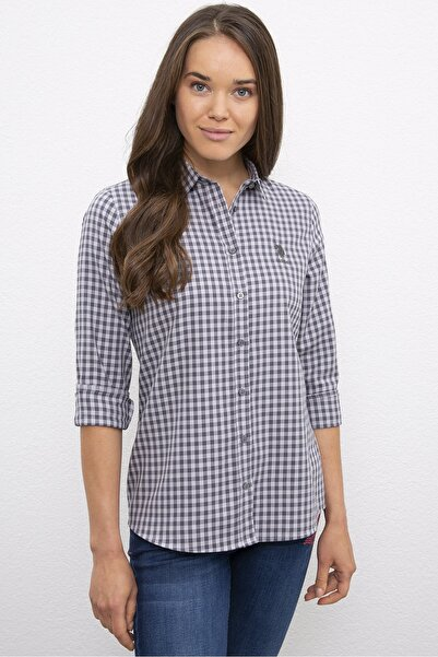 U.S. Polo Assn. Grı Kadın Gömlek