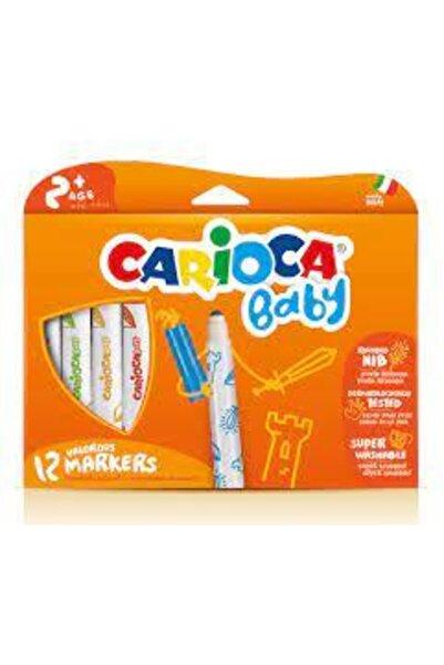 CARIOCA Jumbo Bebek Süper Yıkanabilir Keçeli Boya Kalemi 12 Li 42814