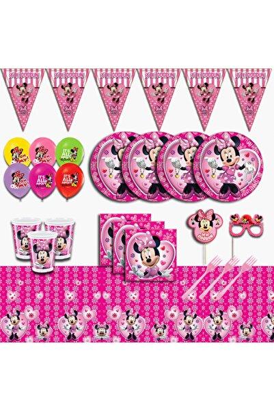 Minnie Mouse Doğum Günü Parti Malzemeleri Seti Süsü 16 Kişilik
