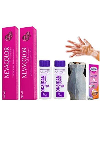 Neva Color Nevacolor Saç Boyası 9.01 Gümüş 2 Adet Oksidan 30 Vol 2 Adet