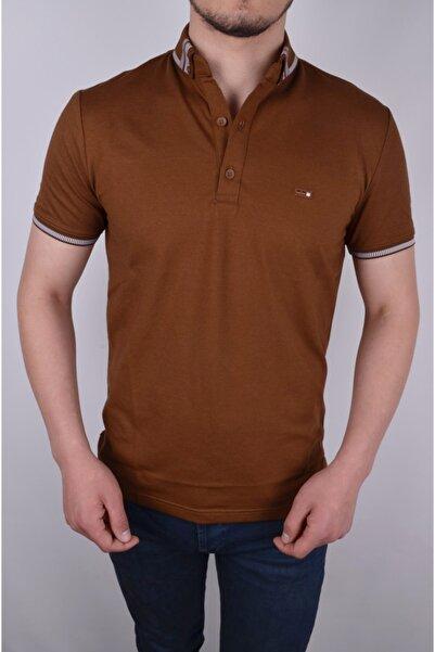 COONLESS Pamuk Kumaş Yaka Detaylı Polo Yaka Tshirt/kiremit/