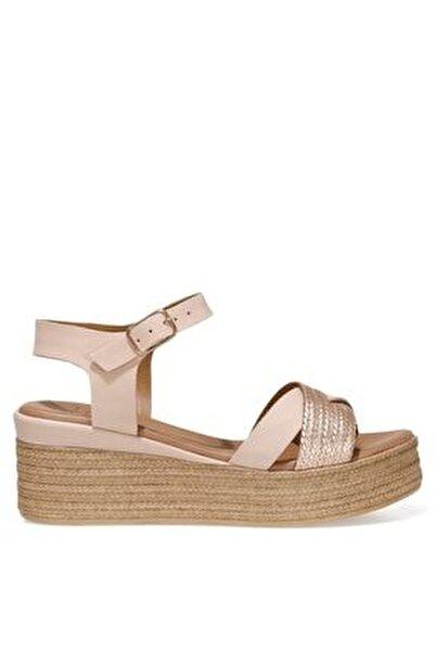 LERI.Z 1FX Pudra Kadın Dolgu Topuklu Sandalet 101038320