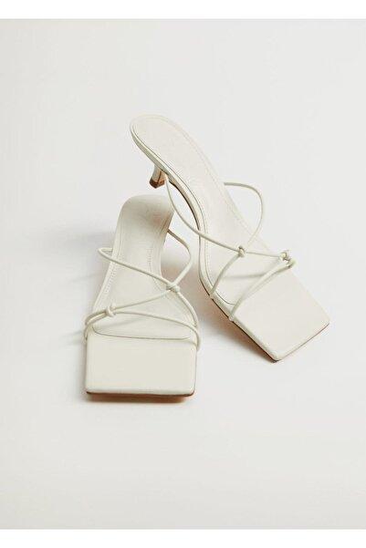 MANGO Woman Düğümlü Topuklu Sandalet