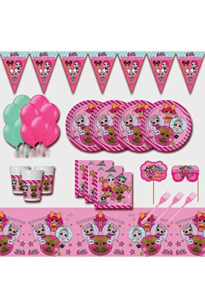 LOL Bebek 16 Kişilik Pembe Doğum Günü Parti Malzemeleri Seti Süsü