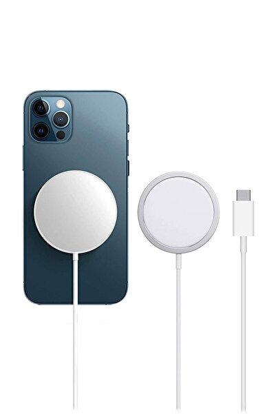 Appleline Iphone 20 W Uyumlu   Kablosuz Şarj Aleti Magsafe Charger Orjinal