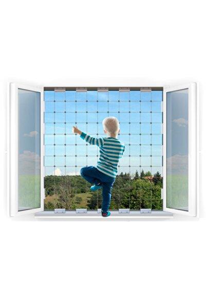 WINBLOCK Orta Boy - Çocuklar Için Pencere Çelik Güvenlik Ağı – Yeni Nesil Pencere Korkuluk Sistemi