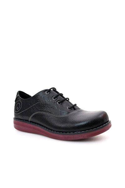 Beta Shoes Hakiki Deri Kadın Siyah Günlük Ayakkabı
