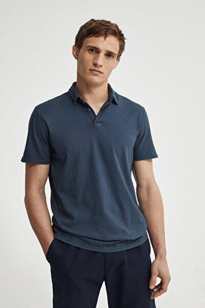 Massimo Dutti Erkek %100 Pamuklu Kısa Kollu Polo T-Shirt 00724273