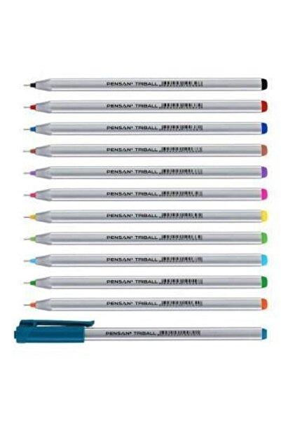 Pensan Triball 12 Renk Karışık Set