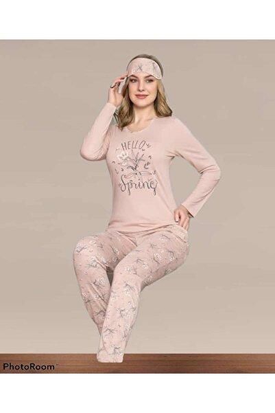 Manolya Kadın Somon Viskon Pijama Takımı