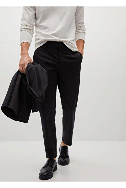 MANGO Man Teknik Kumaşlı Dar Kesim Pantolon