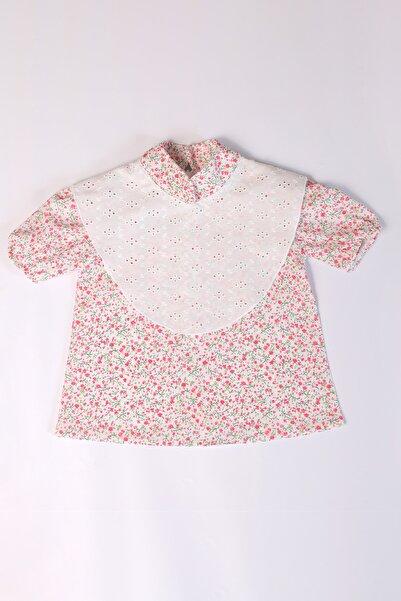 Rainbow Kids Kız Bebek Krem Fisto Yaka Detaylı Çiçekli Bluz