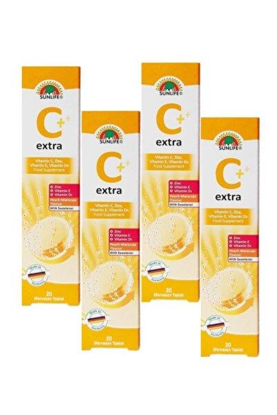 Sunlife Extra C Vitamin C Efervesan 20 Tablet 4'lü Set