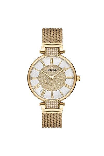 Wesse Kadın Altın Yuvarlak Kol Saati Wwl302304