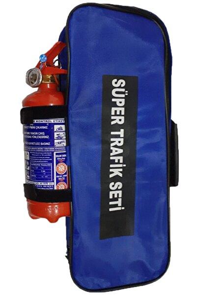 SAFİR Trafik Seti Çantalı Lüx Set Yangın Söndürücülü İkaz Yelekli