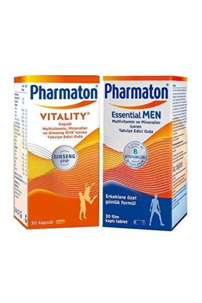 Pharmaton Vitality 30 Kapsül + Essential Men 30 Kapsül