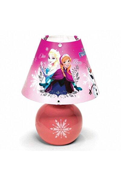 NisaLuce Frozen Elsa Anna Seramik Abajur - Çocuk Odası Aydınlatması - Frozen Abajur
