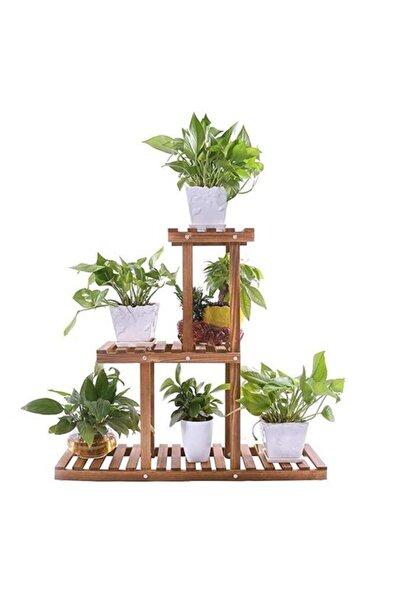 İnce Çizgi Store Ahşap Dekoratif Çiçeklik Saksı Standı Inc20007 Model1