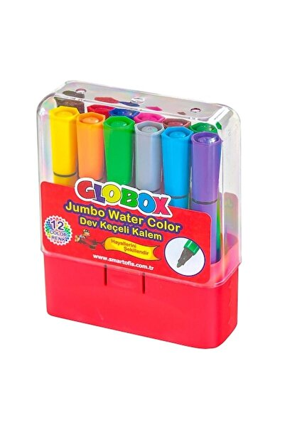 Globox Üçgen Keçeli Kalem 12 Renk