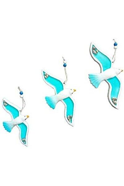 RetroLazer Dekoratif Modern Dörtlü Kuş Duvar Süsü Duvar Dekoru
