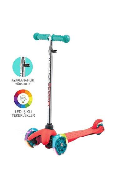 Triathlon T138 7 Renk Led Işıklı Tekerlekli Scooter Kırmızı - Ayarlanabilir Yükseklik
