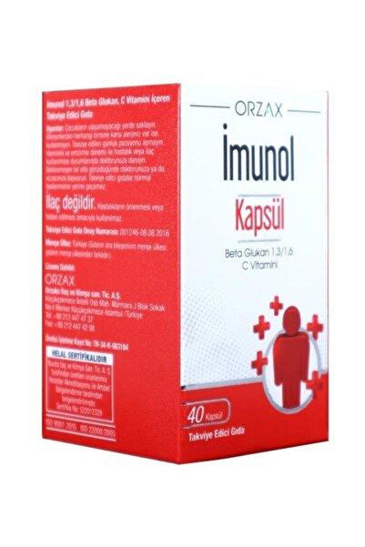 İMUNOL Imunol Kapsül Beta Glukan C Vitamini 40 Kapsül