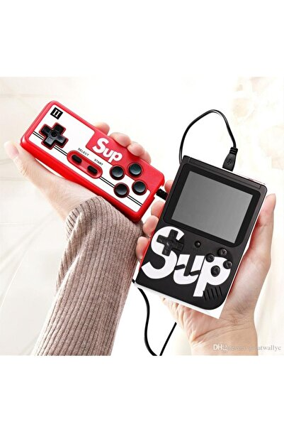 "Retro Siyah Sup Taşınabilir Video Oyun Konsolu 3"" 400 Oyunlu Mini Atari Gameboy 2 Oyunculu  Sup05"