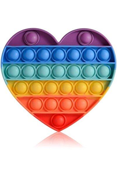 Cemşen Push Pop It Push Bubble Fidget Stres Atıcı Rahatlatıcı Duyusal Oyuncak Gökkuşağı Kalp