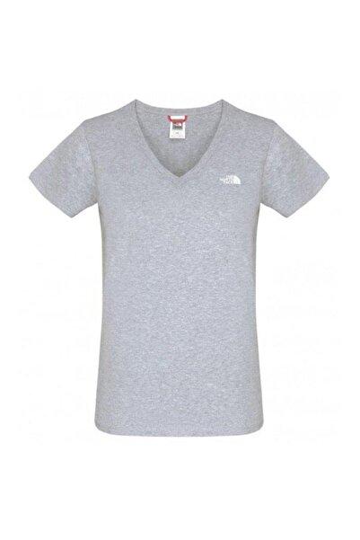 THE NORTH FACE Kadın Gri Simple Dome T-shirt - T0a3h6054