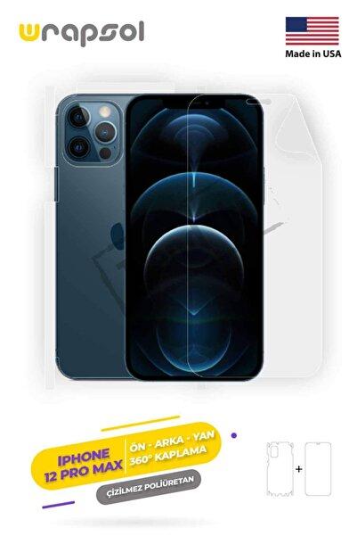 Wrapsol Apple Iphone 12 Pro Max Ekran Koruyucu,arka Ön Yan,darbe Emici Poliüretan Fullbody