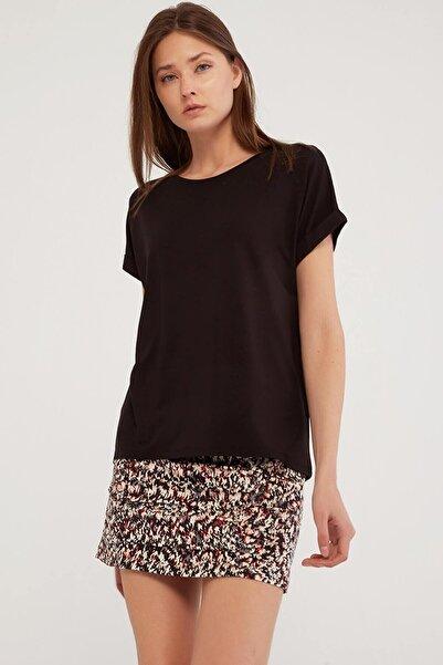 Fashion Friends Kadın Siyah Tshirt