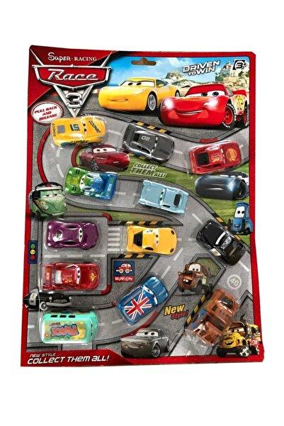 CARS Şimşek Mcqueen Ve Arkadaşları Kartela 12'li Oyuncak Araba Seti Rs2165.0