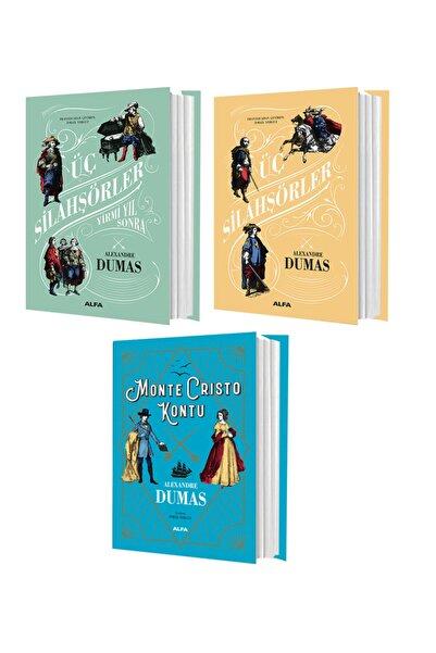 Alfa Yayınları Alexandre Dumas Üç Silahşörler  Üç Silahşörler Yirmi Yıl Sonra Monte Crısto Kontu 3 Kitap Set