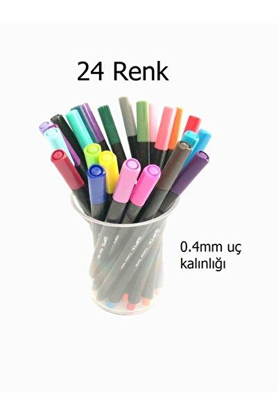 Gıpta Fıneliner 0.4mm 24 Renk Kristal Kalemlikli Set