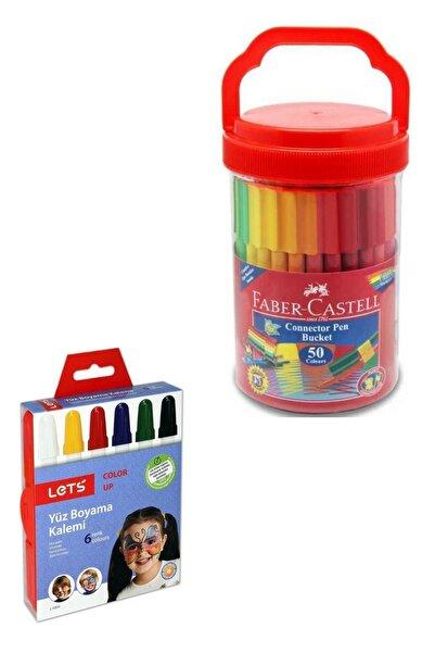 Faber Castell Eğlenceli Keçeli Kalem 50'li ve Lets Yüz Boyama Seti