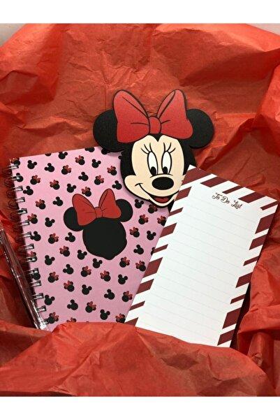 Defter Atölyesi Minnie Mouse Defter - Kalem - Figür - To Do List Seti