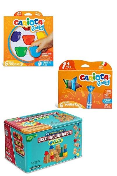 CARIOCA Bebek Aktivite Ve Boya Seti (teddy Crayons + 8150) Ve Adeda Plus 3 Yaş Dikkati Güçlendirme Seti